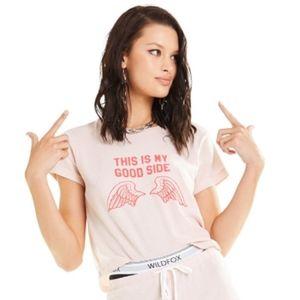 NWT Wildfox Good Side Crop Baby Tee Shirt